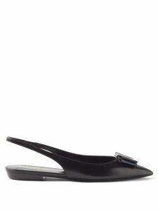 Self-portrait - Open Back Leopard Print Crepe Maxi Dress - Womens - Black White
