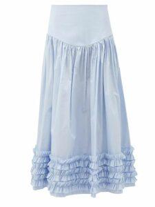 Nili Lotan - Ella Leopard Print Chiffon Slip Skirt - Womens - Leopard