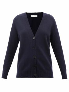 Fendi - Mesh Sleeve Logo Intarsia Silk Sweater - Womens - Red Multi