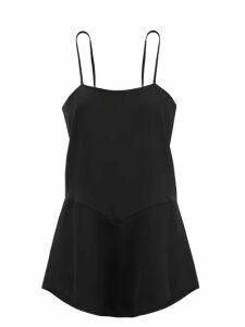 Fendi - Tulle Panel Cashmere Blend Sweater - Womens - Red