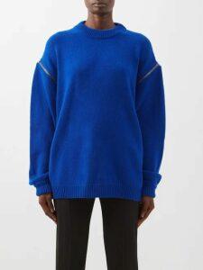 Bottega Veneta - High Rise Quilted Leather Skirt - Womens - Ivory