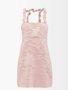 Isabel Marant - Chaz Quilted Leather Mini Skirt - Womens - Black