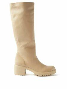 Chloé - Flou Thistle Jacquard Midi Skirt - Womens - Black