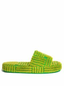 Temperley London - Akiko Sequinned Check Tulle Midi Dress - Womens - Blue Multi