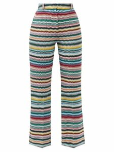 Andrew Gn - Single Breasted Wool Twill Blazer - Womens - Black