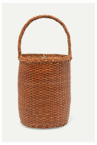 Dragon Diffusion - B Weave Bucket Small Woven Leather Tote - Tan