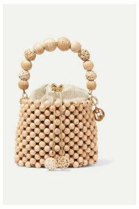 Rosantica - Fenice Beaded Bucket Bag - Beige