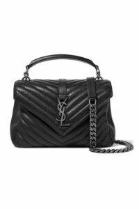 SAINT LAURENT - College Medium Quilted Leather Shoulder Bag - Black
