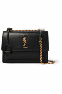SAINT LAURENT - Sunset Medium Textured-leather Shoulder Bag - Black