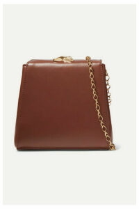 Little Liffner - Mademoiselle Mini Leather Shoulder Bag - Brown