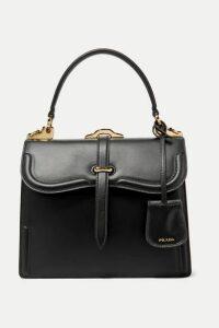Prada - Sidone Leather Shoulder Bag - Black