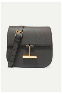 TOM FORD - Tara Mini Textured-leather Shoulder Bag - Dark gray
