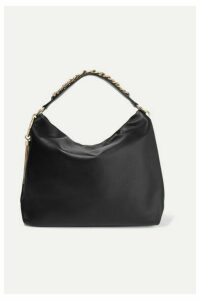 Jimmy Choo - Callie Large Leather Shoulder Bag - Black