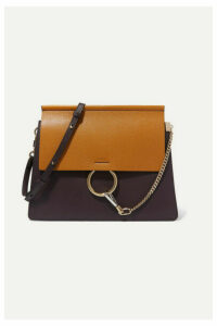 Chloé - Faye Medium Two-tone Leather Shoulder Bag - Dark purple