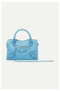 Balenciaga - Classic City Mini Textured-leather Tote - Blue
