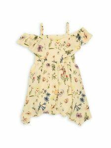 Little Girl's & Girl's Printed Off-The-Shoulder Dress