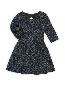 Girl's Mimi Metallic Dress