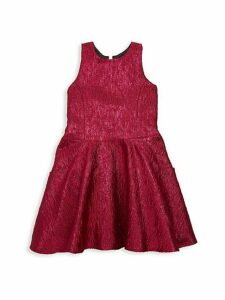 Girl's Reign in Royal Rea Metallic Brocade Swing Dress