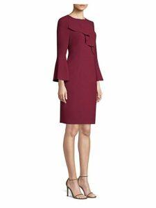 Sibyl Bell Sleeve Crepe Dress