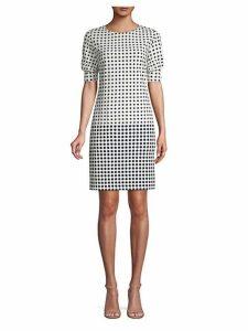 Polka Dot Mini Sheath Dress
