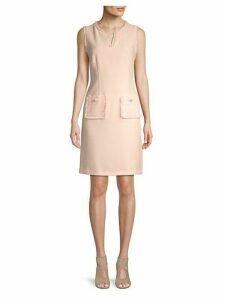 Textured Sheath Dress