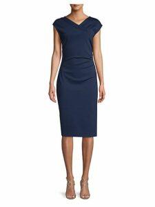 Cap Sleeve Ruched Sheath Dress