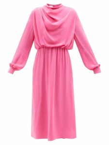 Dragon Diffusion - Cannage Woven Leather Basket Bag - Womens - Tan Navy
