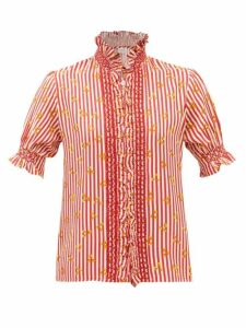 Chloé - The C Small Crocodile Effect Leather Shoulder Bag - Womens - Navy