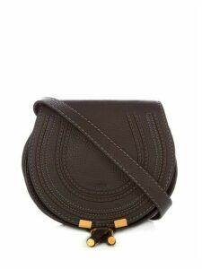 Chloé - Marcie Mini Grained Leather Cross Body Bag - Womens - Black