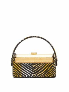 Bienen-davis - Régine Metallic Brocade Minaudière Clutch - Womens - Gold Multi
