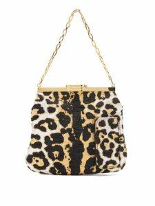 Bienen-davis - 4am Leopard Brocade Clutch - Womens - Leopard
