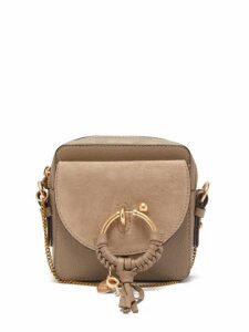 See By Chloé - Joan Mini Square Leather Cross Body Bag - Womens - Grey