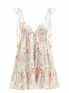 Burberry - Tb Print Leather Belt Bag - Womens - Orange Multi