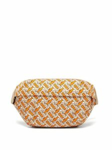 Burberry - Tb Print Twill Belt Bag - Womens - Orange Multi
