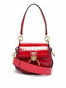 Chloé - Tess Small Crocodile Effect Leather Cross Body Bag - Womens - Red
