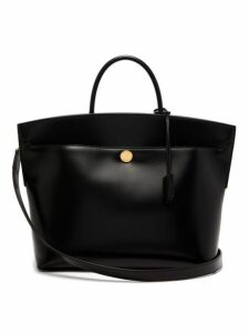 Burberry - Society Leather Tote Bag - Womens - Black