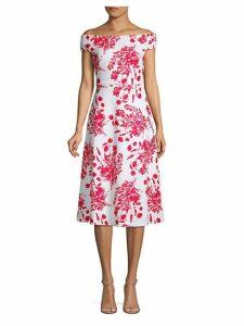 Floral Off-The-Shoulder A-Line Dress