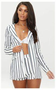 Black Stripe Pocket Detail Blazer, Black