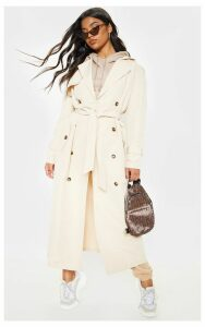Stone Oversized Trench Coat, White