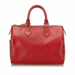 Louis Vuitton Red Epi Speedy 25
