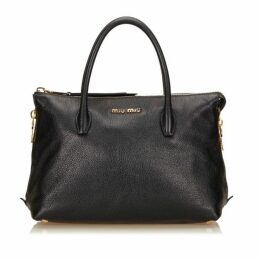 Miu Miu Black Leather Handbag
