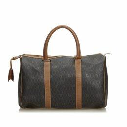 Dior Black Honeycomb Coated Canvas Boston Bag