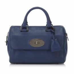 Mulberry Blue Leather Del Rey