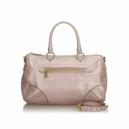 Prada Pink Leather Satchel