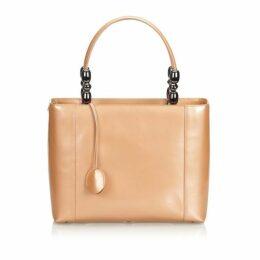 Dior Brown Malice Patent Leather Handbag