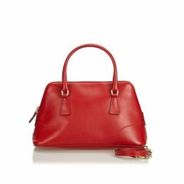 Prada Red Leather Dome Satchel