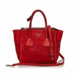 Prada Red Suede Twin Pocket Bag