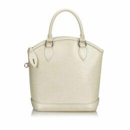 Louis Vuitton White Epi Lockit Vertical
