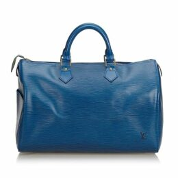 Louis Vuitton Blue Epi Speedy 40
