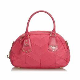 Prada Pink Quilted Nylon Handbag